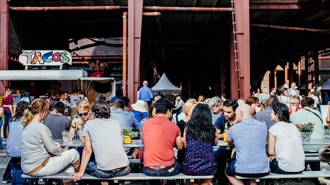 Street Food Festival auf Zeche Zollverein in Essen