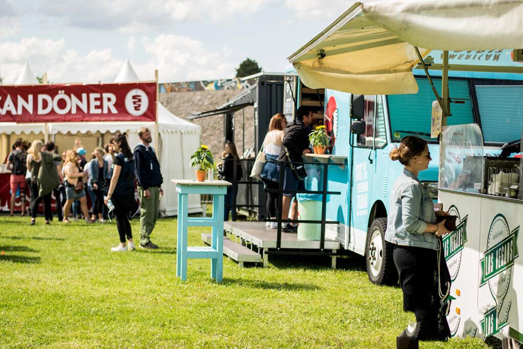 Food Corner bei Großveranstaltung, Paluma Festival in Bochum